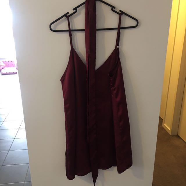 Slip Dress With Choker