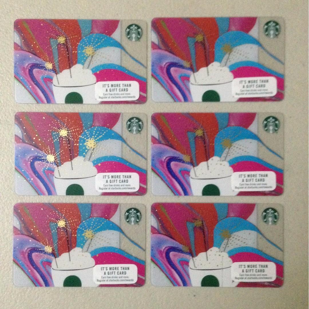 SUPER 50% OFF!!!  Starbucks Cards