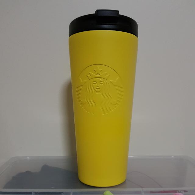 a8e76ffe217 (Sold)Starbucks USA Yellow Stainless Steel Tumbler 16oz, Everything Else on  Carousell