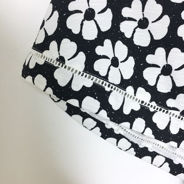 Structured Floral V-neck Dress
