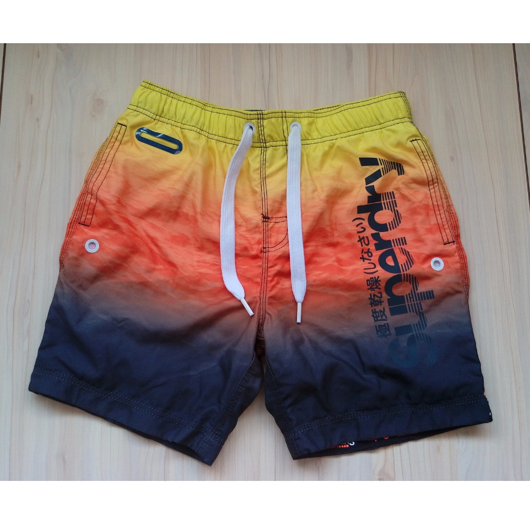 Superdry Premium Neo 反光 海灘褲 L號