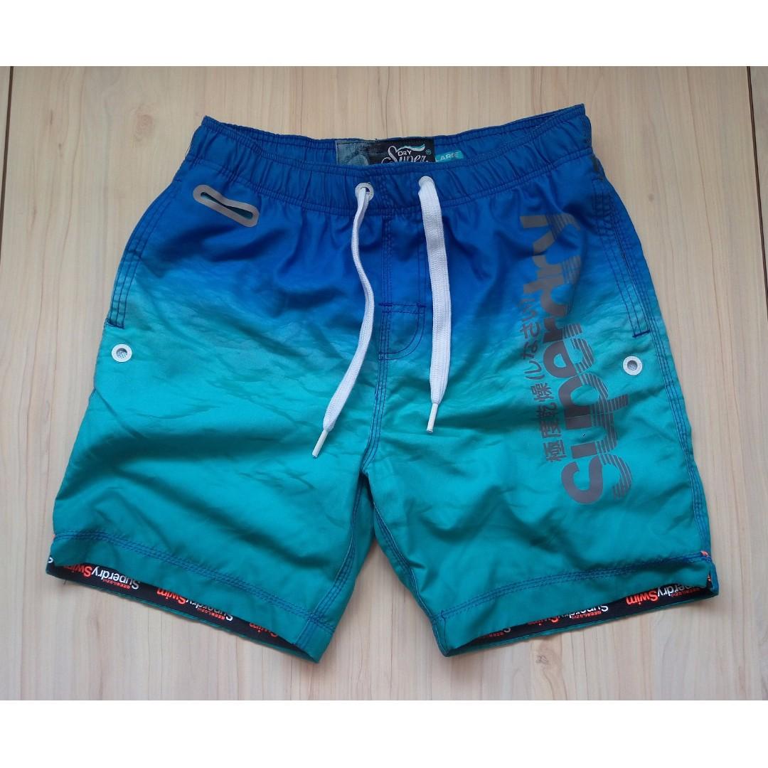 Superdry Premium Neo 反光 海灘褲 M、L號