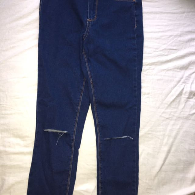 SUPRÈ KNEE CUT JEANS