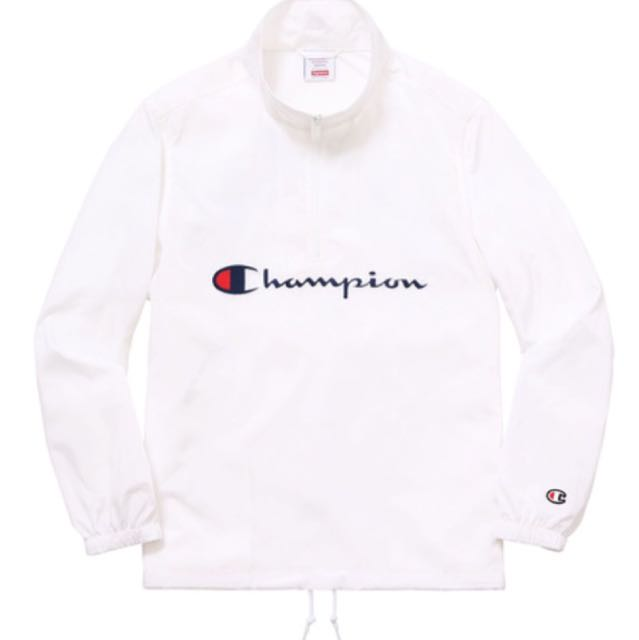 66c91996a895 Supreme X Champion Half Zip, Men's Fashion, Clothes on Carousell
