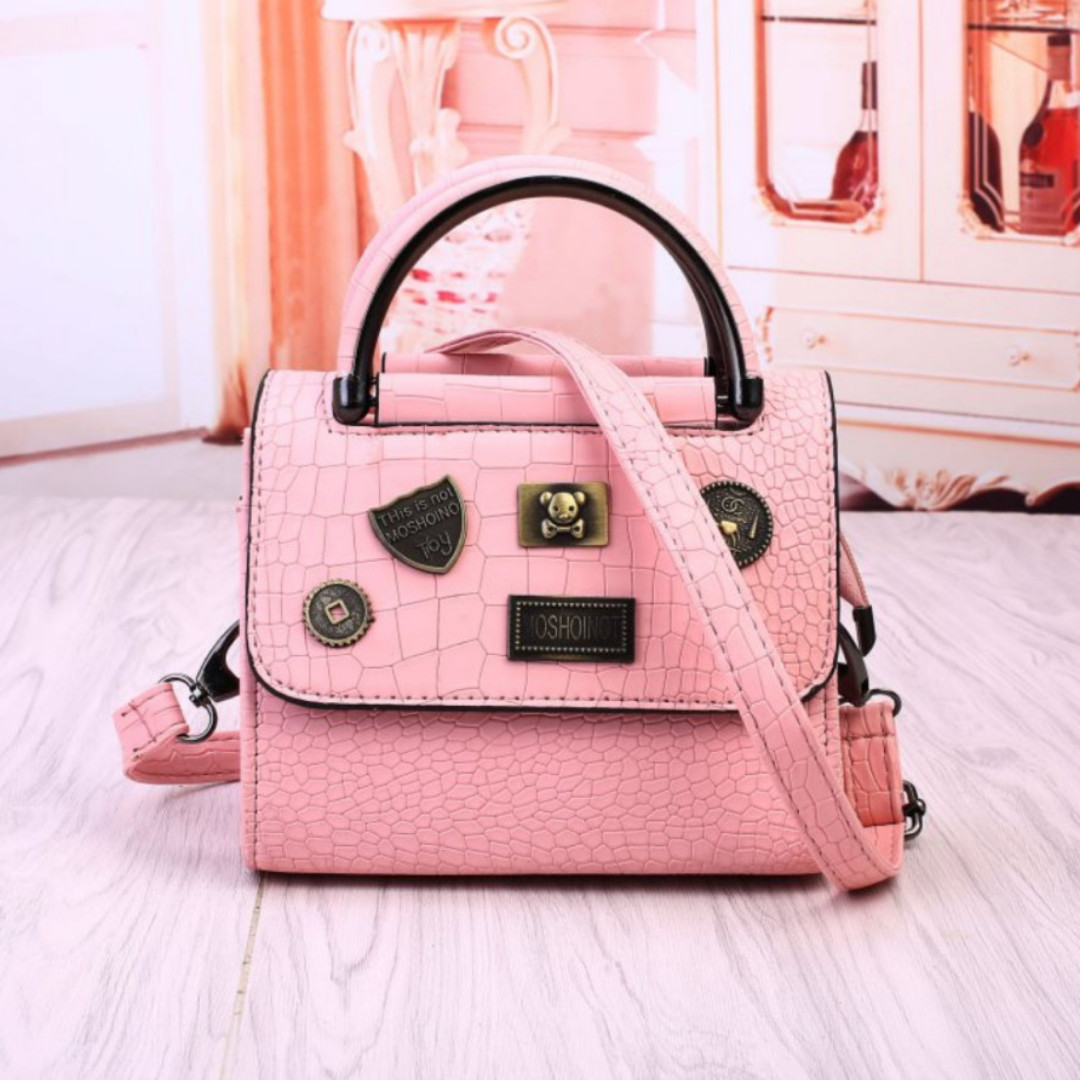Tas Impor Batam Murah 21A858SN Pink