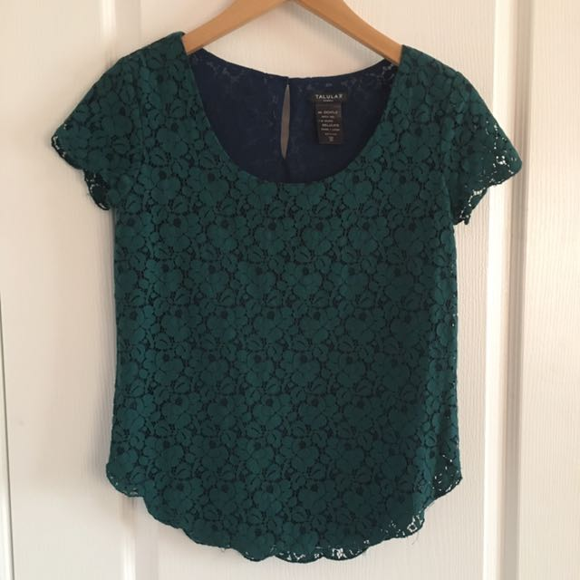 Teal Lace Talula Top