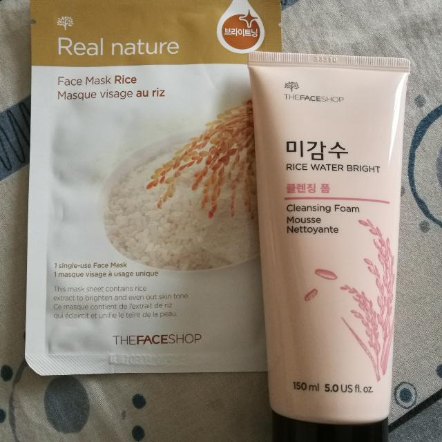 The FACE Shop Cleansing Foam RICE WATER BRIGHT