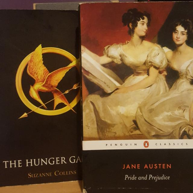 The Hunger Games By Suzanne Collins, Pride And Prejudice By Jane Austen