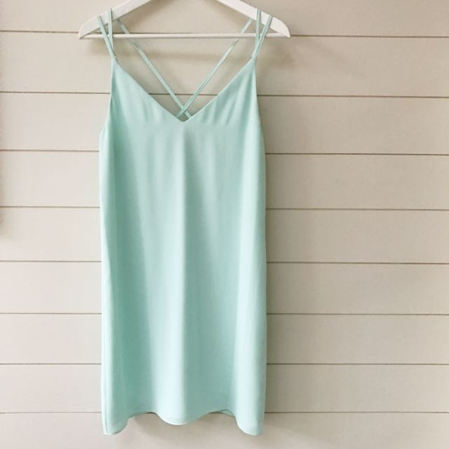topshop turquoise green summer dress
