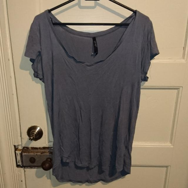 T-shirt, Dark Grey/purple Size 8