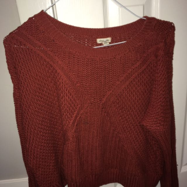 URBAN OUTFITTERS SLOUCHY ORANGE SWEATER