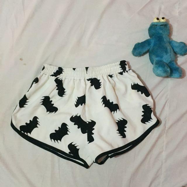 White Bat Dolphin Shorts