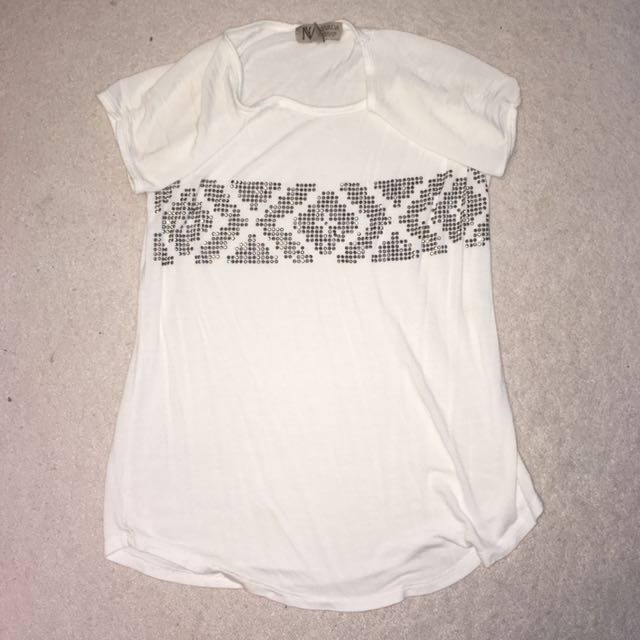White Sequined Top