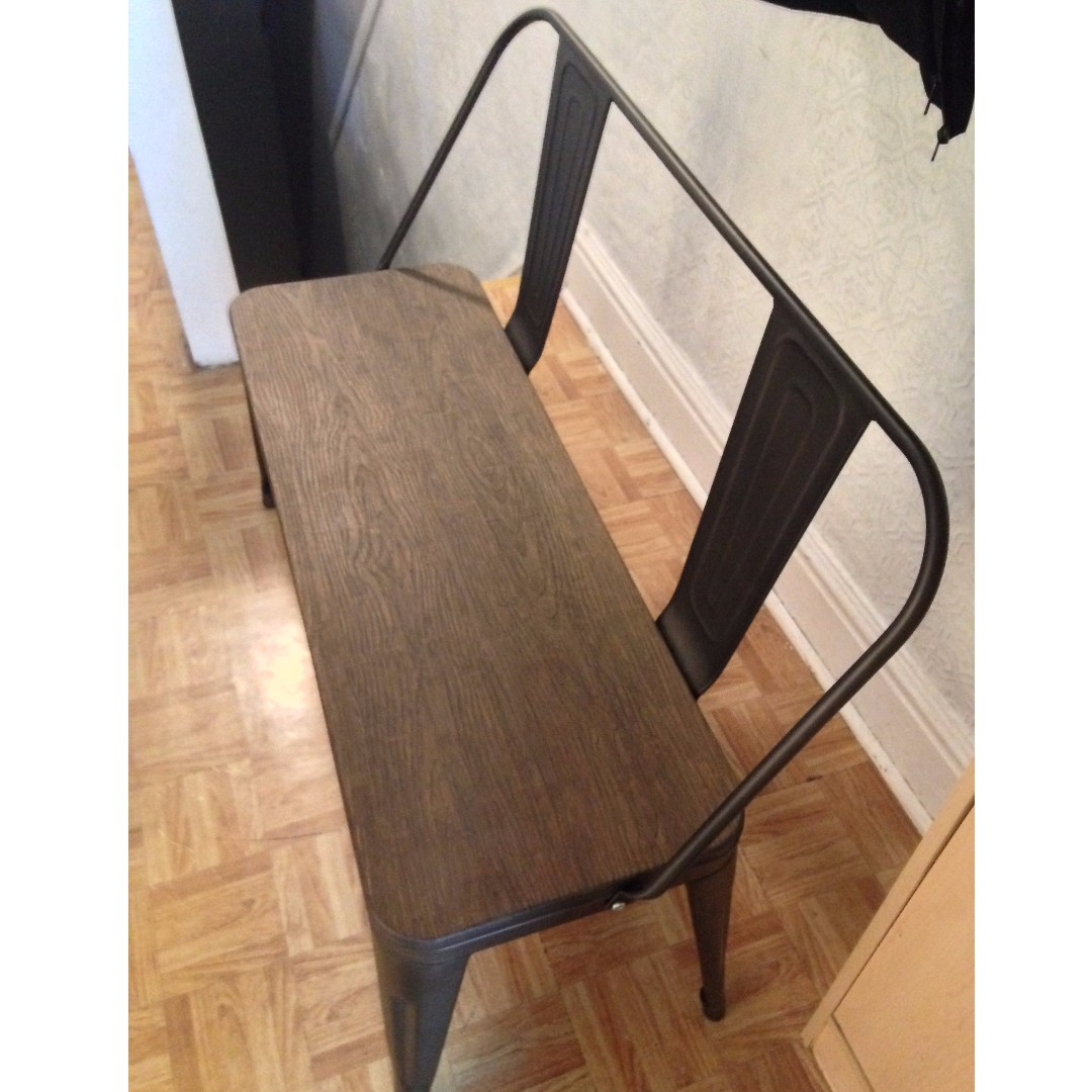 WOOD AND STEEL BENCH ***Price Drop***