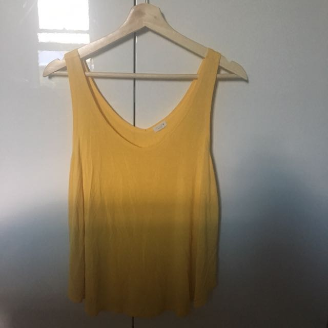 Yellow Flowing Top