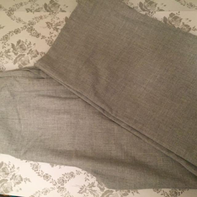 Zara Grey Palazzo Pants XS