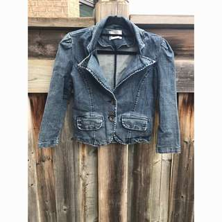 Denim Blazer From Costa Blanca, Size S