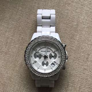Micheal Kors White Plastic Watch