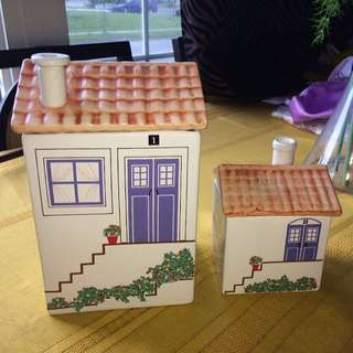 Ceramic 'House' Containers