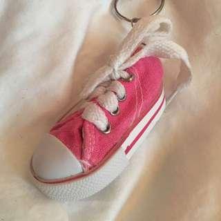 Pink Sneaker Keychain