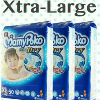 BNIP Mamy Poko Extra Dry Tape Diapers