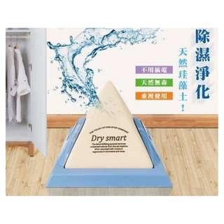 【松桂坊】珪藻土金字塔強力除濕器【免插電】