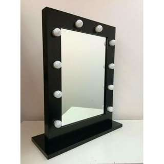 NEW IN BOX - HOLLYWOOD GLAMOUR BULB MIRROR
