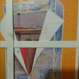 Closet /cabinet Vinyl Collapsible Portable