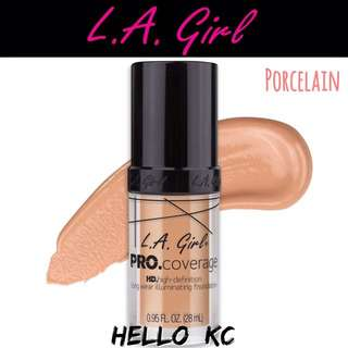 💖INSTOCKS💖 LA GIRL HD Pro Coverage Illuminating Foundation - PORCELAIN