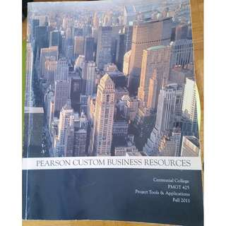 Pearson Custom Business Resources Textbook