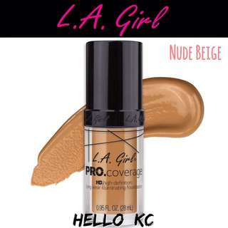💖INSTOCKS💖 LA GIRL HD Pro Coverage Illuminating Foundation - NUDE BEIGE