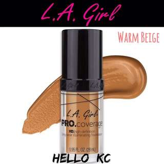 💖INSTOCKS💖 LA GIRL HD Pro Coverage Illuminating Foundation - WARM BEIGE