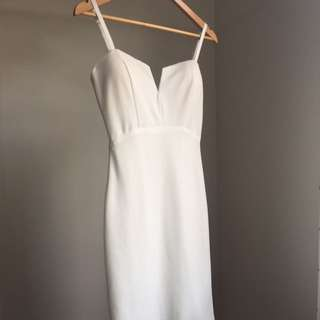 Missguided White Bodycon Dress