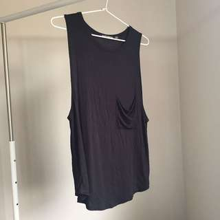 Brandy Melville Black Muscle Tee