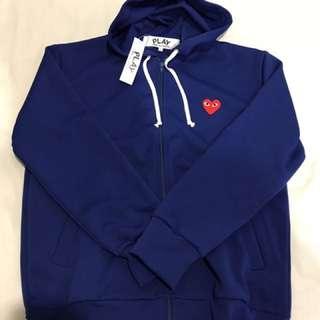 Brand New Comme Des Garcons Zip Up Hoodie Red Heart