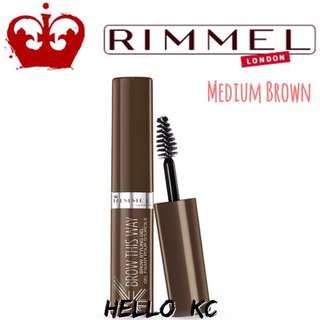 💖INSTOCKS💖 RIMMEL LONDON Brow This Way Eyebrow Gel - MEDIUM BROWN