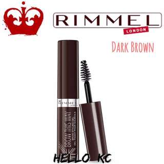💖INSTOCKS💖 RIMMEL LONDON Brow This Way Eyebrow Gel - DARK BROWN