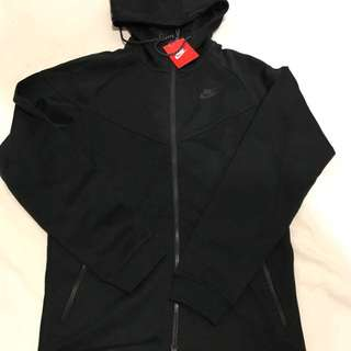 Brand New Nike Tech Fleece Black Zip Up Jacket Medium