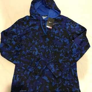 Brand New Nike Therma Fit Blue Camo Hoodie Medium