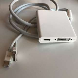 Apple Duel Link DVI To Mini DisplayPort With USB