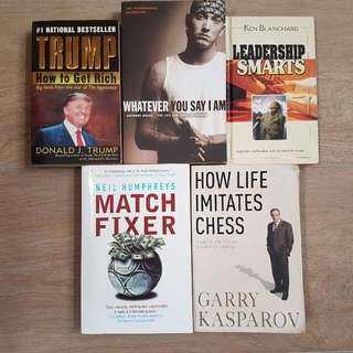 Non-Fiction, Self-help, Biographies, Leadership Books