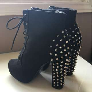 Spiked Ankle Boots Size 6