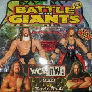 Xlassic Wcw Figure..The Giant & Kevin Nash Set Loose