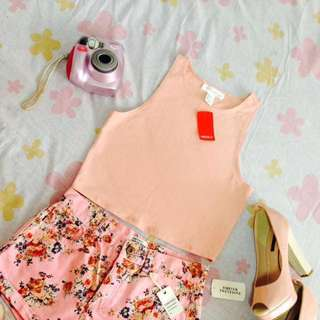 Forever21 peach Crop Top