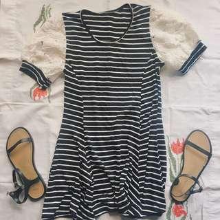 Stripe Long Top/Dress
