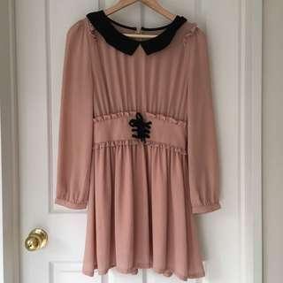 Peach Cute Dress