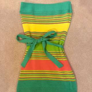 LEMOR Colourful Strapless Top With Belt