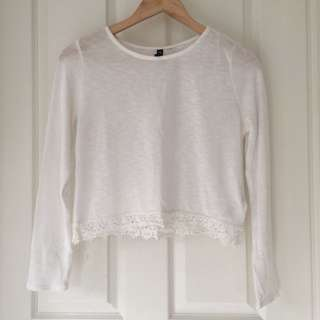 Divided by H&M Long Sleeve Crop Top