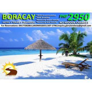 BORACAY TOUR PACKAGE - 3D2N ALL IN!