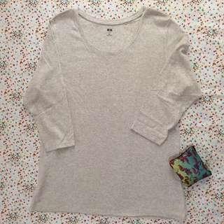 UNIQLO 3/4 Sleeves gray